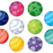 Group of balls — Stock Vector