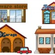 Big Stores - Stock Vector