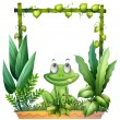 A frog thinking - Stock Vector