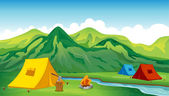 Camping tents — Stock Vector