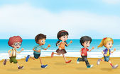 Running children — Stock Vector
