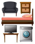 Useful furnitures — Stock Vector