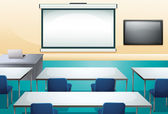 Clean and ogranized classroom — Stock Vector