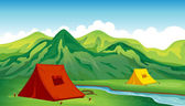 A camping site — Stock Vector