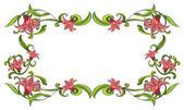Bordure fleurie — Vecteur