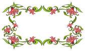 Květinový okraj — Stock vektor