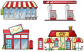 Business establishments — Stock Vector