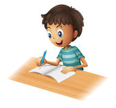 A boy writing — Stockvector