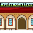 Stock Vector: Train station