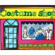 Stock Vector: Costume shop