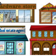 Stock Vector: Different establishments