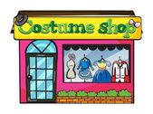 A costume shop — Stock Vector