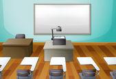 An empty classroom — Stock Vector
