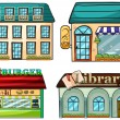 Stock Vector: Shops set