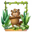A beaver carrying a log — Stock Vector