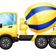A yellow truck - Stock Vector