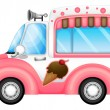 An ice cream car — Stock Vector