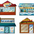 Shops set - Stock Vector