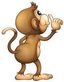 A monkey's back — Stock Vector