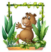 A brown beaver — Stock Vector