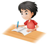 A boy sketching — Vector de stock