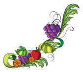 A fruity border — Stock Vector