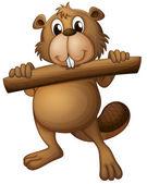 A beaver — Stock Vector