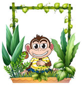 A monkey smiling — Stock Vector