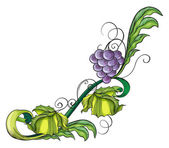 A grape vine border — Stock Vector