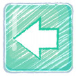 A previous button icon drawing - Image vectorielle