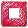 Royalty-Free Stock Vektorgrafik: A stop button icon drawing