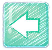 A previous button icon drawing — Vettoriale Stock