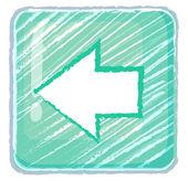 Un precedente icona pulsante disegno — Vettoriale Stock