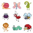 Royalty-Free Stock Vector Image: Colorful creatures