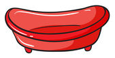 Un lavabo rojo — Vector de stock