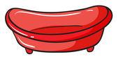 Een rode bekken — Stockvector