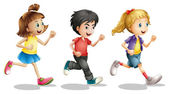 Kids running — Stock Vector