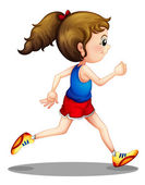 A young girl running — Stock Vector