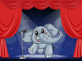 An elephant at the stage — Stock Vector
