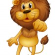 A lion standing — Stock Vector