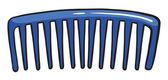 Een blauwe kam — Stockvector