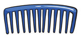 Un peigne bleu — Vecteur