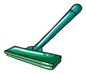 A green mop — Stock Vector