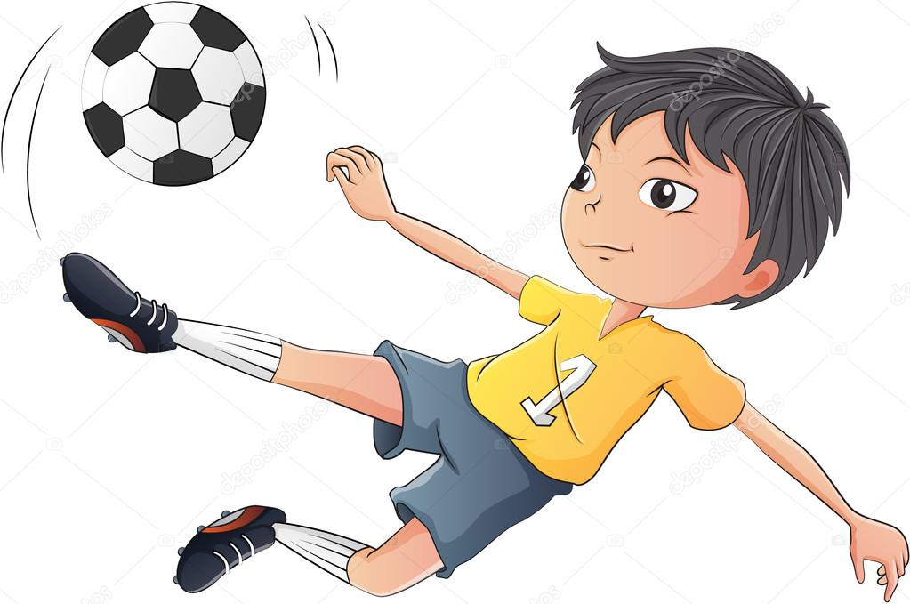 Soccer players clipart