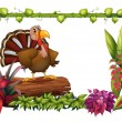 Royalty-Free Stock Vector Image: A turkey in the garden