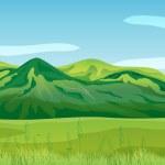 High mountains — Stock Vector
