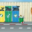 çöp kovaları, yangın musluğu ve hakları Kurulu — Stok Vektör