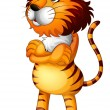 A tiger standing alone — Stock Vector #20034985