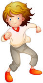 A young boy dancing — Stock Vector