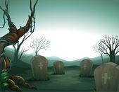 A graveyard — Stock Vector